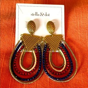 Stella and Dot Novak Statement Earrings NEW